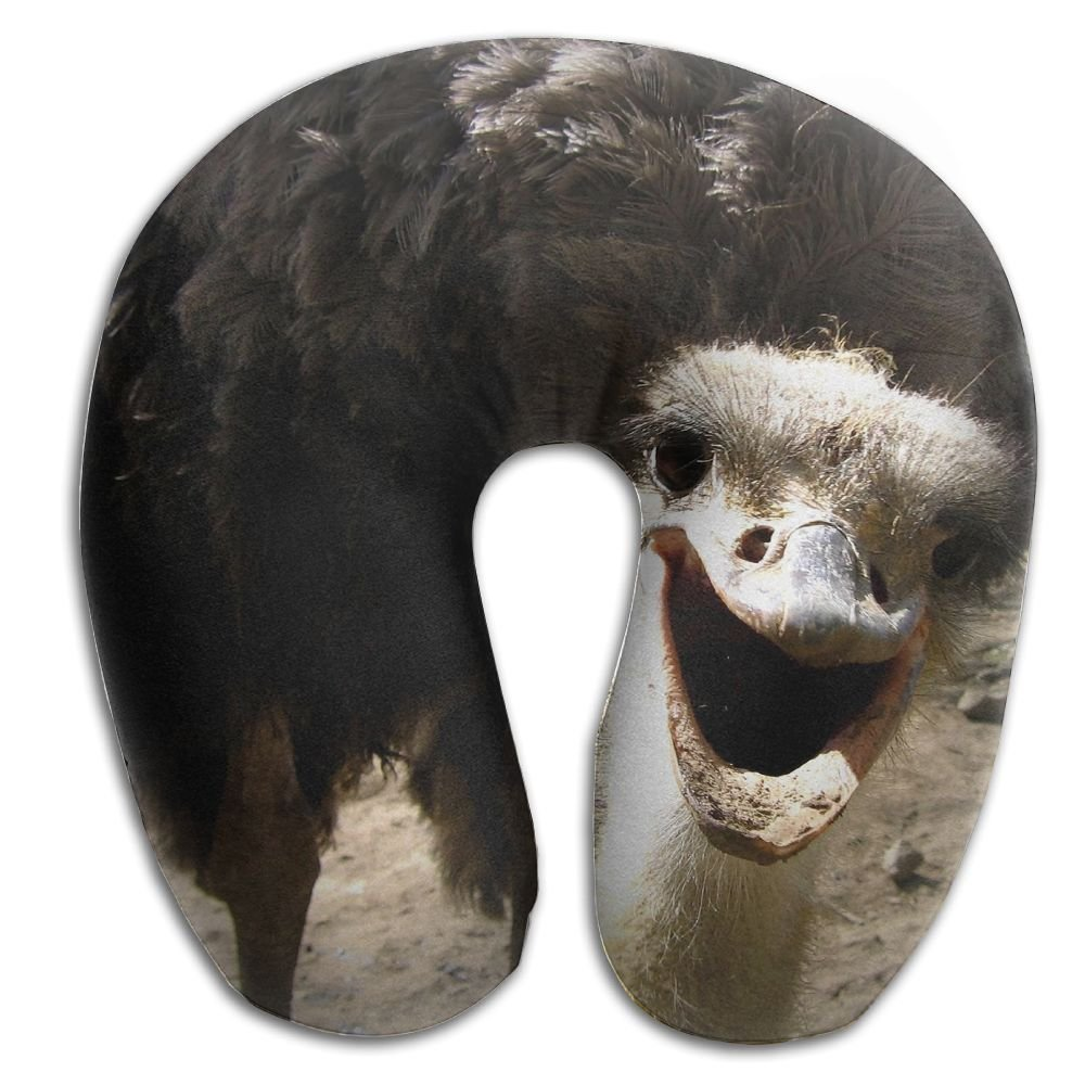 Hai Ni Memory Foam Neck Pillow Cushion Animal Ostrich Bird Comfy Soft U-Shape Cervical Pillow Head Support For Travel Office Home Sleeping