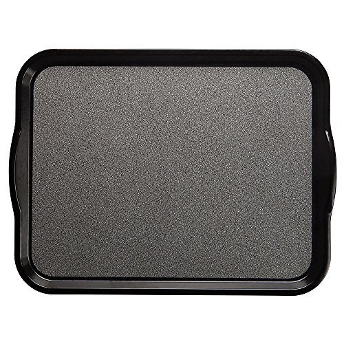 Cambro Versa Camtray Pebbled Black Fiberglass Nonskid Tray with Handles - 18