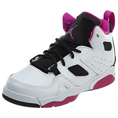 pretty nice ddeba d961f Jordan Kids Flight Club 91 (PS) White Black Fuchsia Blast Size 1
