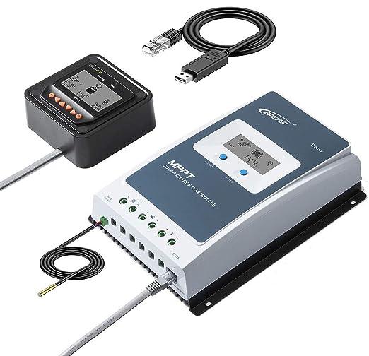 Solarepic MPPT Controlador de Carga Solar 20 A 60 V PV Tierra ...