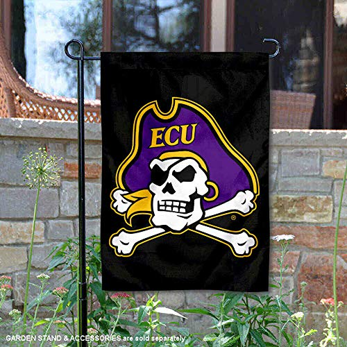 (College Flags and Banners Co. East Carolina Pirates Black ECU Pirate Garden Flag )
