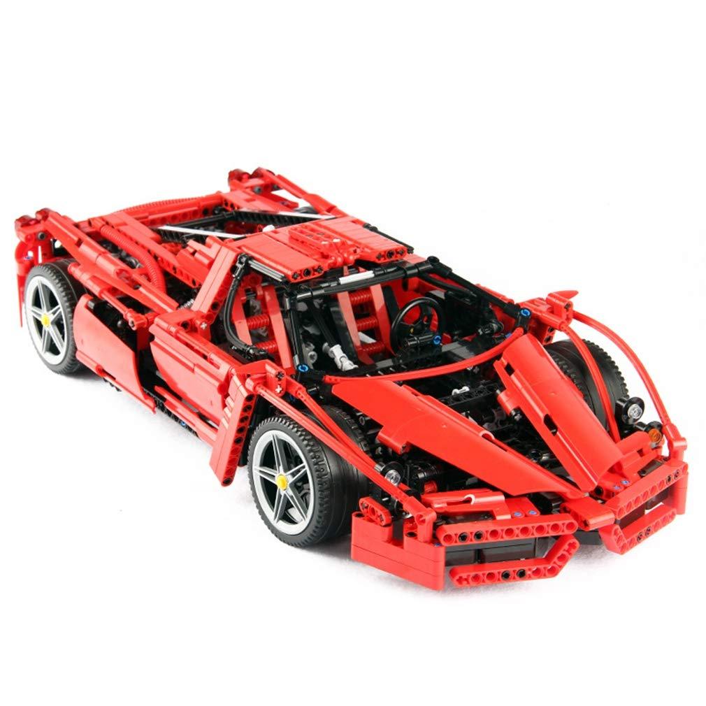 P1022 3d diyパズル1359ピースビルディングブロックテクニックおもちゃ 3d、赤スーパーレーシングカーシリーズビルディングブロックレンガ子供のおもちゃモデル子供ギフト B07QPK3J6V Red Red B07QPK3J6V, 南河原村:a65a9758 --- m2cweb.com