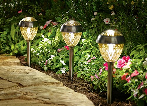 Landscape Pathways Solar Lights Set, Antique Pewt 6-Piece
