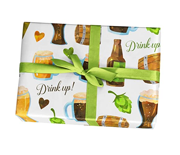 Amazon Manly Beer Gift Wrapping Paper Sheets