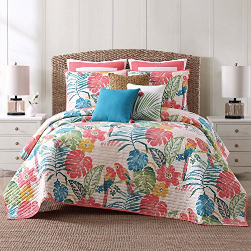 Oceanfront Resort QS1964KG-2300 Cotton Quilt Set, King, Coco Paradise