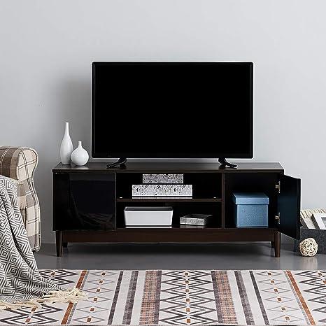 Ruication - Mueble de TV Moderno con Cuerpo Blanco Mate y frentes ...