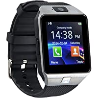 Upreale DZ09 Bluetooth Smart Watch with Touchscreen Multifunctional TF Sim Card Support for Mens Boys Kids Girls, Black