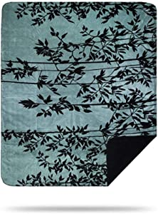 Denali Ultimate Comfort Floral Throw Blanket, Plush, Hand-Stitched, Super Cozy Blankets Made in The USA, Branches