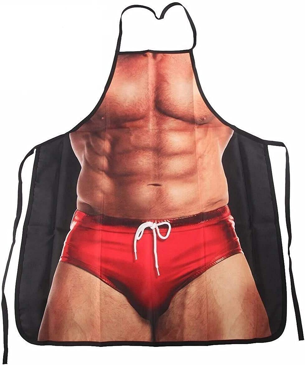 Armear Sexy Muscle Man Kitchen Grilling Party Apron Funny Gag Gift