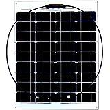 ソーラーパネル 50W ソーラーチャージャー 18V SunPower 曲げ可能 太陽光発電 太陽光パネル 高変換効率 防水 防塵 ソーラー充電器 (50W)