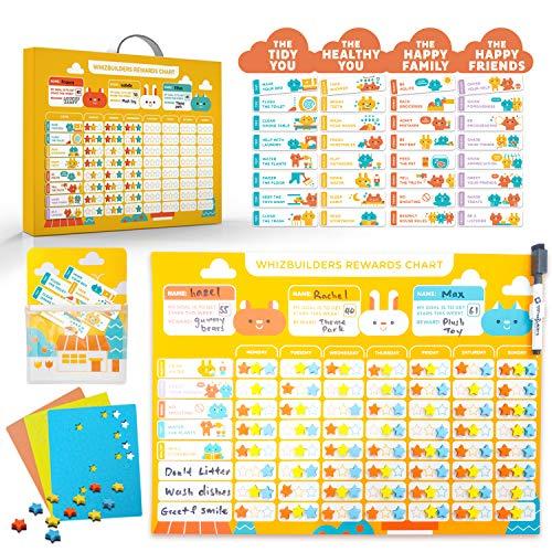 Behavior Chore Reward Star Chart : Multiple Kids Toddlers Age, Magnetic Visual Responsibility Potty Training Calendar Schedule Board, Magnet Sticker Homeschool Kindergarten Preschool Learning Supplies