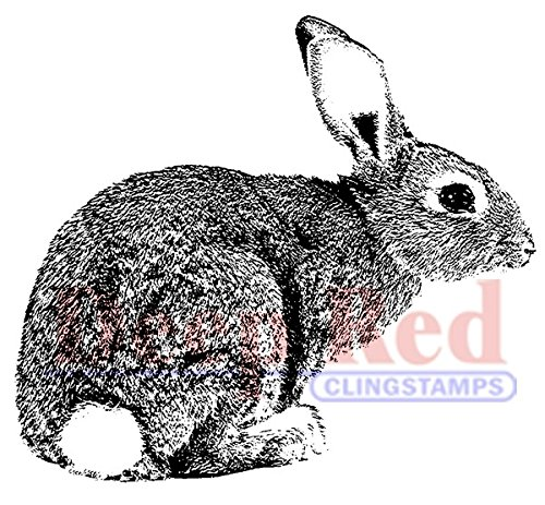 (Deep Red Stamps Bunny Rabbit Rubber)