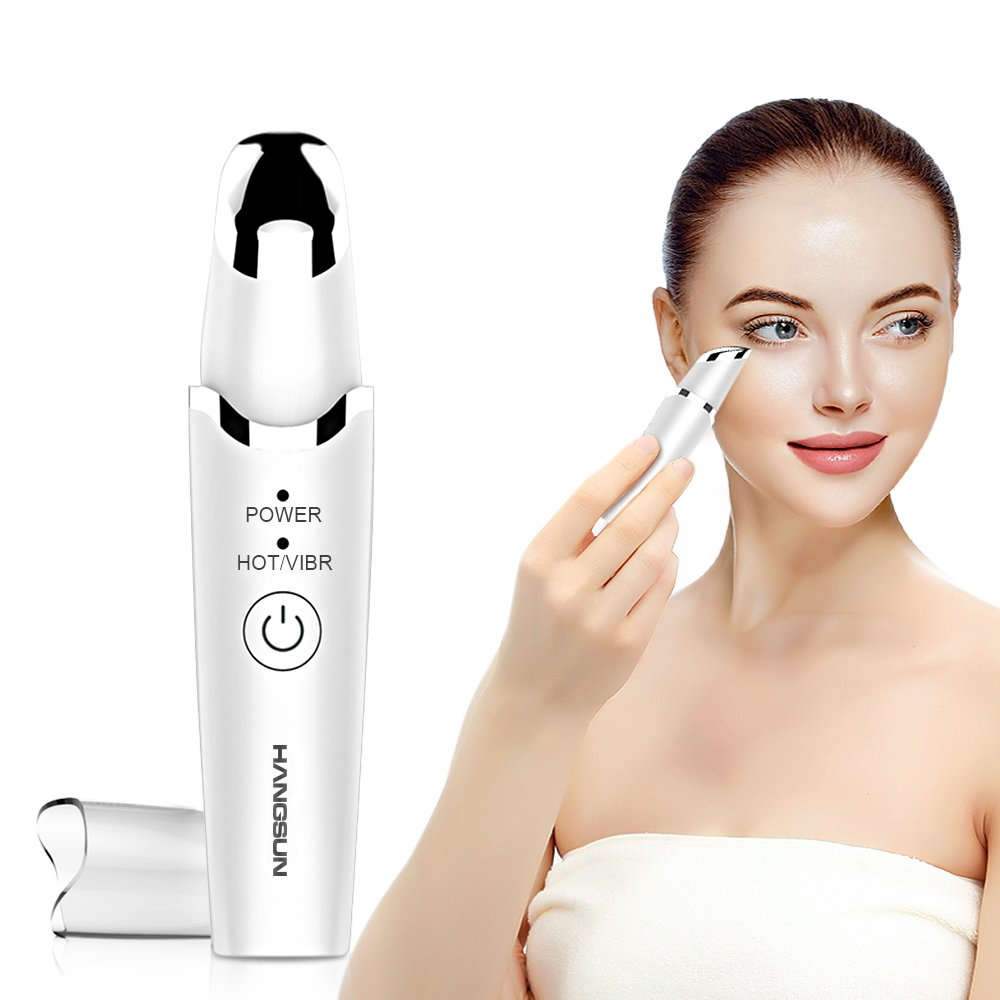 Hangsun Anti Aging Bags and Dark Circle Eye Massager EM60 for Fast Absorbing Eye Cream and Serums Sonic Massaging Wand for Eye Bag, Puffiness, Wrinkle Treatment USB Rechargerable