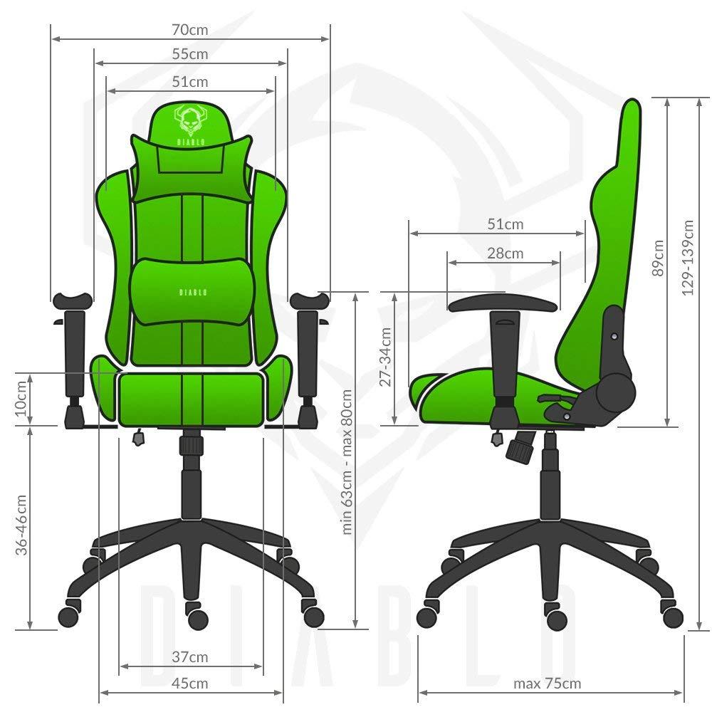 Gaming Schreibtischstuhl Hocker Player X Stuhl Stühleamp; Diablo kPTwXZiOu