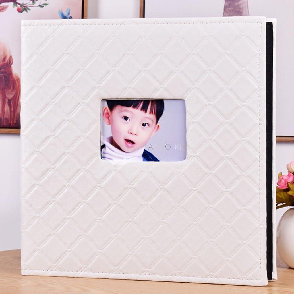 Lanna shop-クリエイティブフォトアルバム、結婚記念メモ型の600のアルバム、写真のサイズを6 x 4 / 10.2 X 15.2 cm ( 4d ) ホワイト