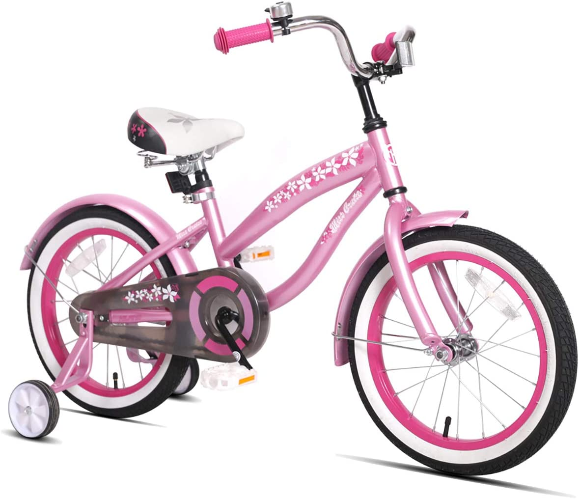 "JOYSTAR 12"" 14"" 16"" Kids Cruiser Bike with Training Wheels for Ages 2-7 Years Old Girls & Boys, Toddler Kids Bicycle"