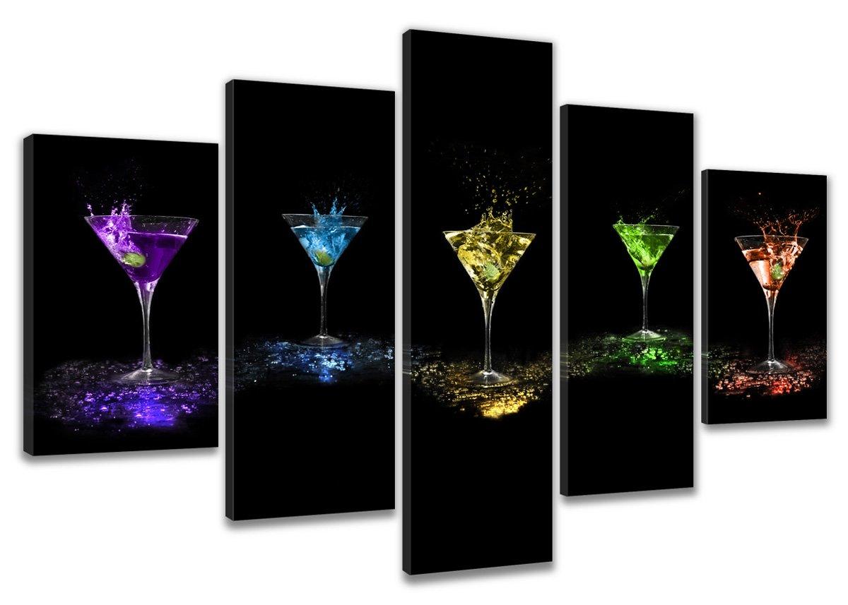 bestpricepictures 200 x 100 cm quadro su tela bar cocktail 6303-SCT - stampa/disegno/immagine pronto da appendere