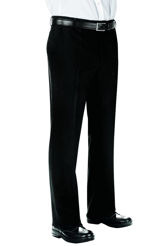 Nero Isacco Pantalone Uomo senza Pinces Nero 100/% Poliestere 40 170 gr//m/²