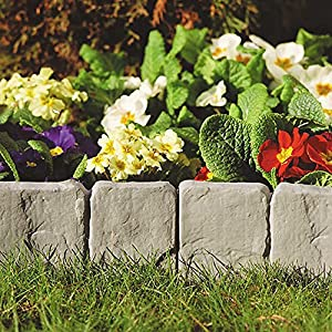 Dark Grey Lakeland Stone Hammer In Garden Border Edging (384) Perfect  Finished For Edges