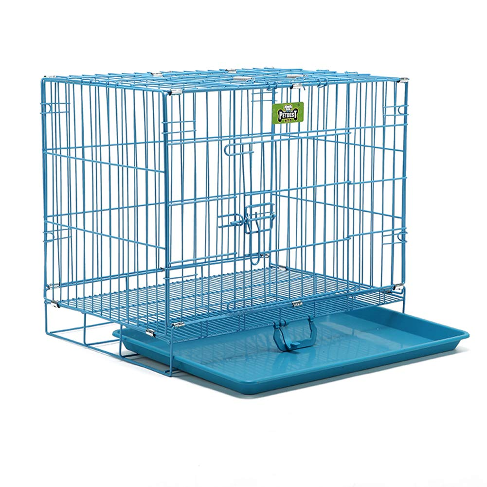 bluee Foldable Pet Dog Cage, Cat and Dog Rabbit Running Pen Cage Fence Pet Isolation Universal Iron Cage Pp Resin Material Height 38cm,bluee