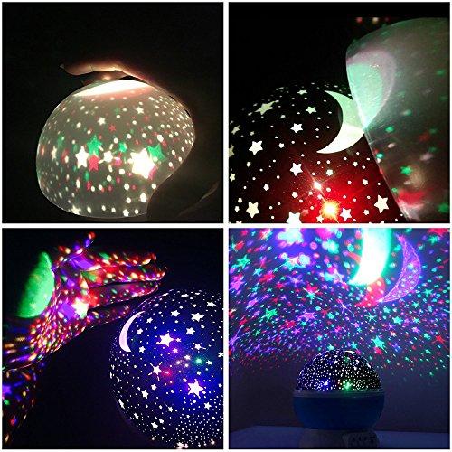 Star Projector Night Light 360 Degree Rotation Ceiling