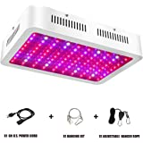 1000W LED Grow Light - Full Spectrum LED Grow Light for Indoor Plants with Adjustable Rope, UV &IR for Hydroponic Veg and Flower- (100Pcs LEDs)