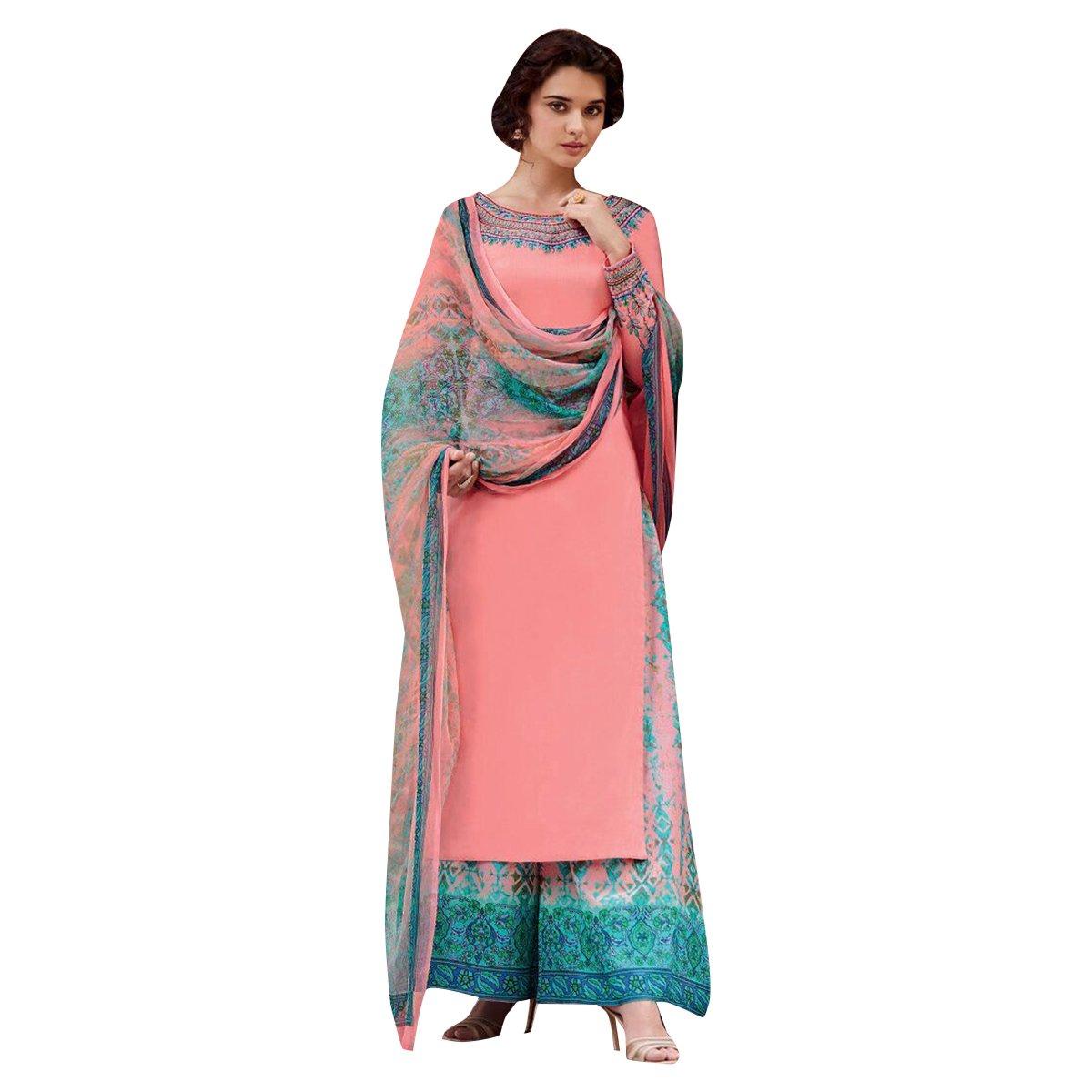 Vestido Fiesta Desgaste étnica plazo Traje Straight Salwar ...