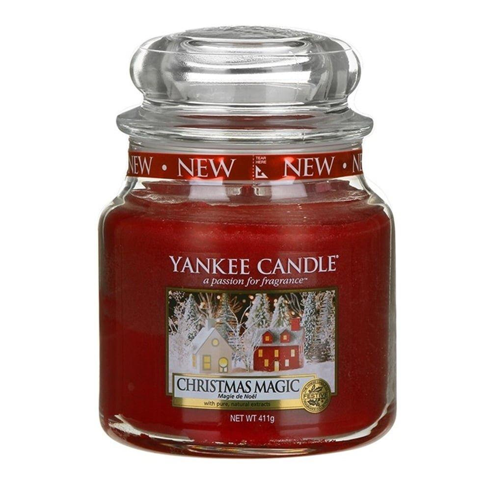 Yankee Candle bougie petite jarre classique «Magie de Noël», rouge 1556288E