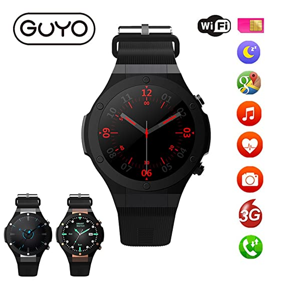 Amazon.com: 3G Smart Watches Android 5.0 OS support WiFi GPS ...