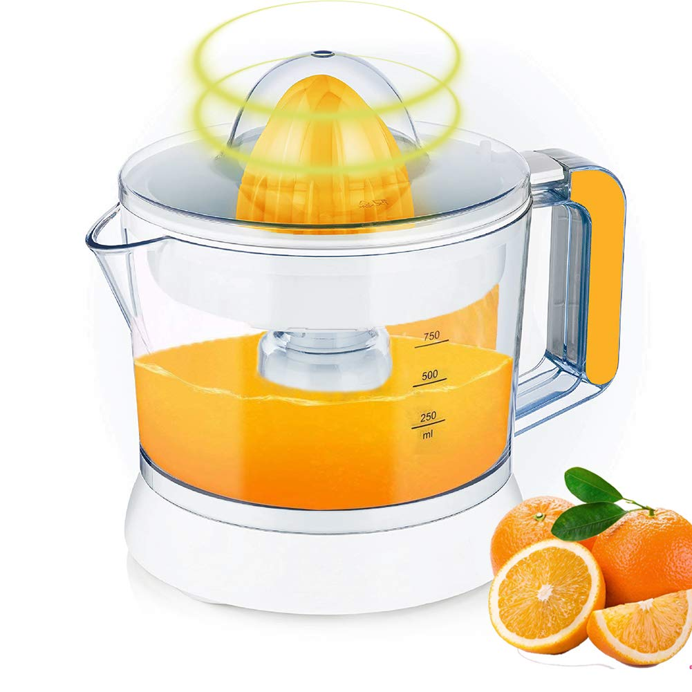 Large Capacity Electric Citrus Juicer | Juicer Squeezer Auto Reverse Pulp Fresh Lemon Orange Juice for Healthy Juice (750ML,25W)