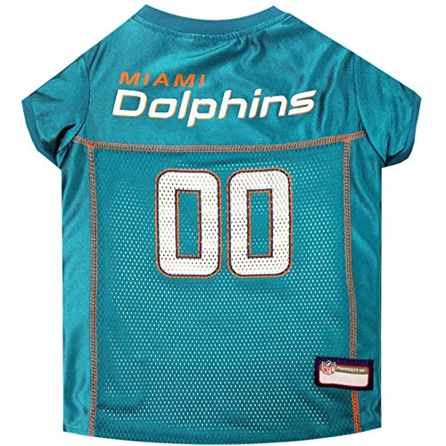 Pets First NFL Miami Dolphins Pet Jersey, Small
