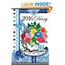 2016 Diary with Birth Flowers and Gems: Weekly planner for women for 2016 illustrated with the Birthstone and Flower of the Month