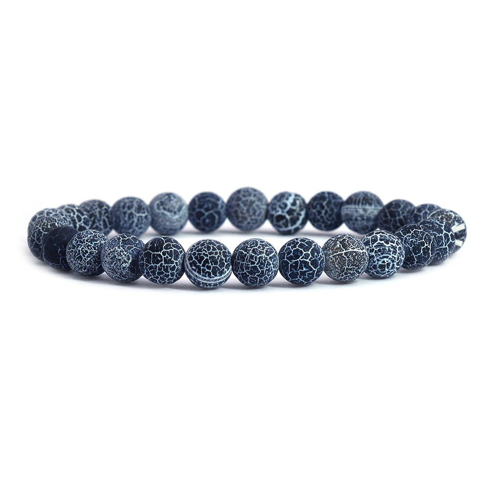 Justinstones Gem Semi Precious Gemstone 8mm Round Beads Stretch Bracelet 7