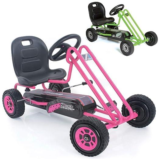 Amazon.com: Hauck Lightning - Pedal Go Kart | Pedal Car | Ride On Toys for Boys & Girls with Ergonomic Adjustable Seat & Sharp Handling - Pink: Toys & Games