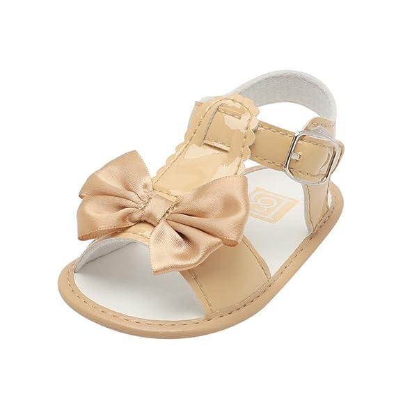 Sandalias de Bebé Verano Infantil Bebé Niña Bowknot Cuna Zapatos Zapatos únicos Antideslizantes de Suela Blanda Sandalias Zapatilla Sneaker Niñas ...