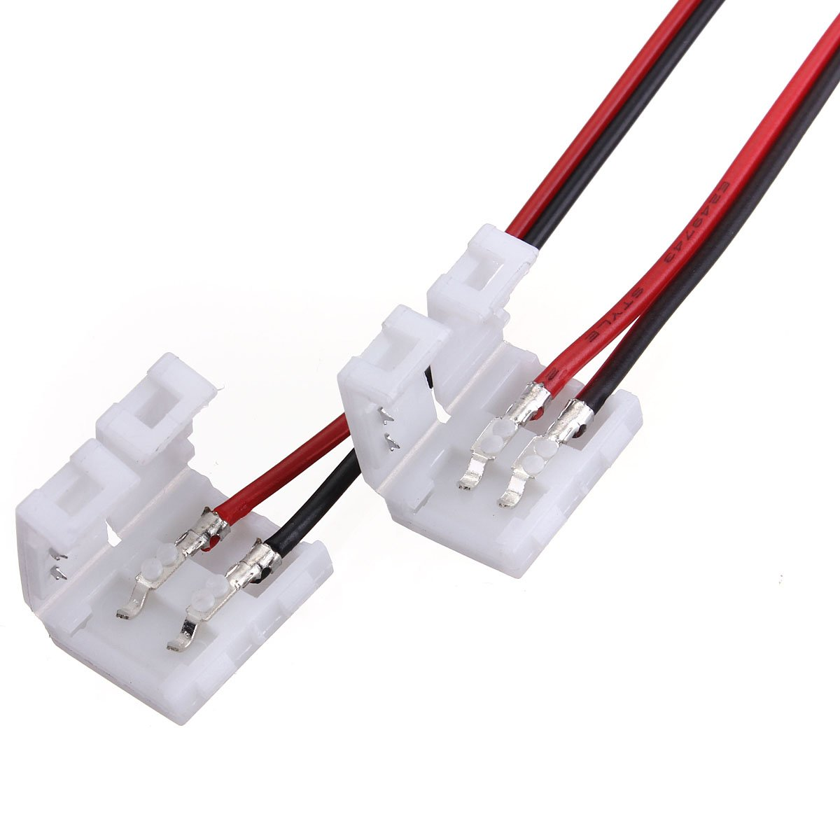 10x2-Pins Connector For Led Strip Wire 3528/5050 With PCB Ribbon