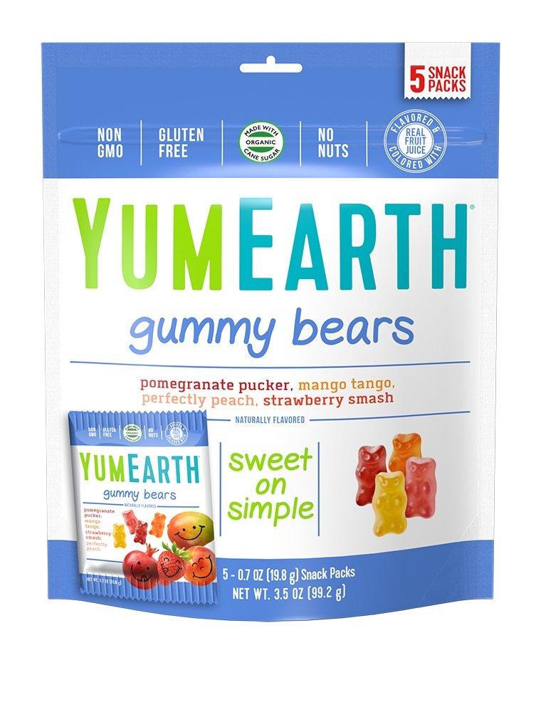 YumEarth NaturalGummy Bears, 5 Count