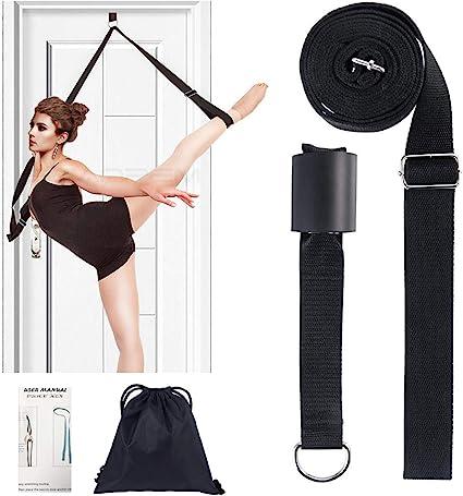 Taekwondo Banda El/ástica para Piernas Baile o Entrenamiento de Gimnasia Casa o Gimnasio Ballet Estirador de Piernas en la Puerta Correa El/ástica Ajustable para Yoga