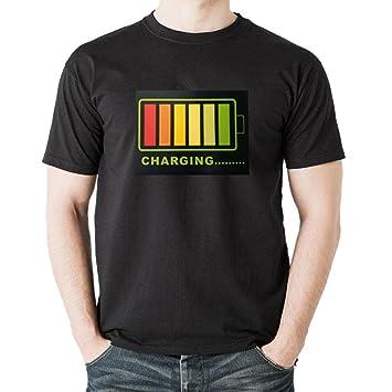 Molre-yan Camiseta Intermitente Unisex Camiseta Control Luminoso Cantidad de Control de cantidad Eléctrica: Amazon.es: Jardín