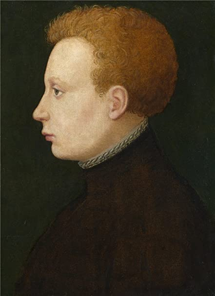Oil Painting French Portrait Of A Boy16th Century 18 X
