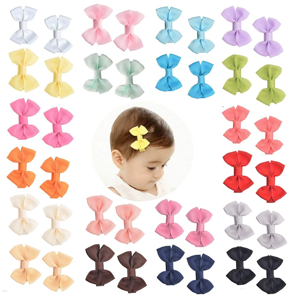 Prohouse Boutique Baby Girl Hair Clips Flower Grosgrain Ribbon Bows for Toddlers Teens Kids Little Girls Barrettes