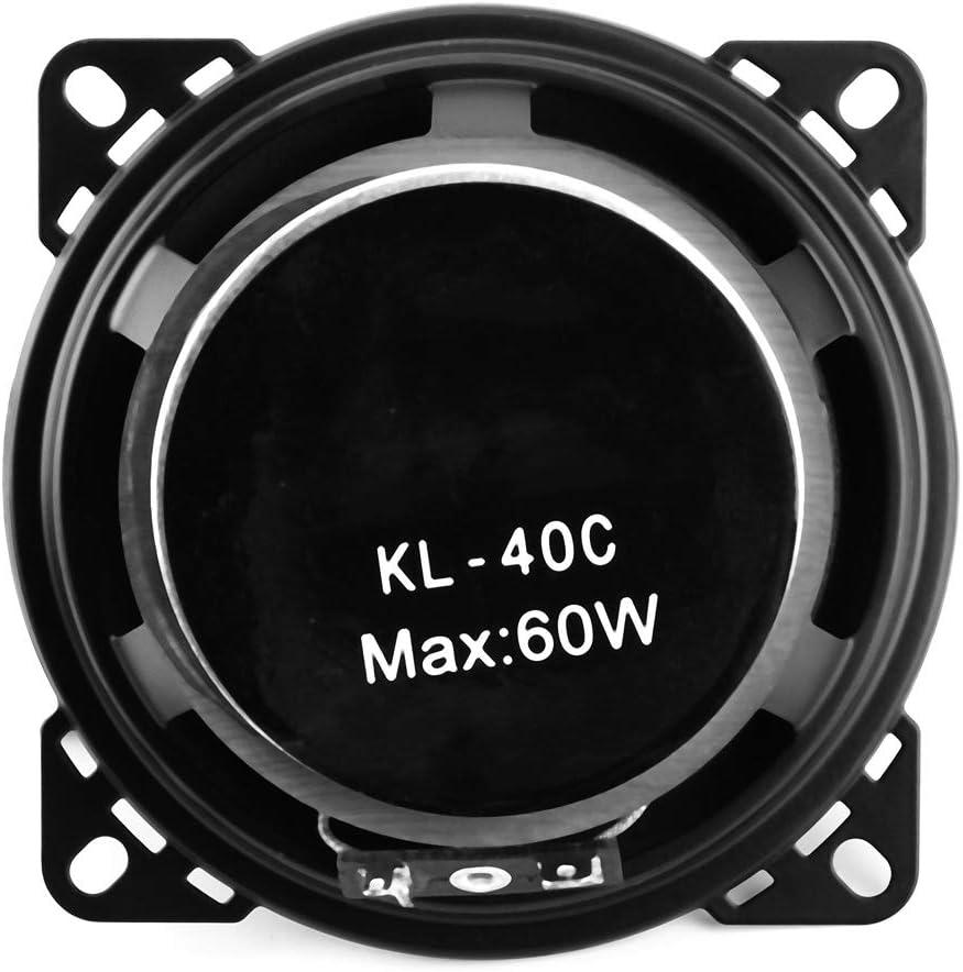 Akozon Altavoz coaxial para autom/óvil 2 piezas 4 Altavoces del coche Altavoz de audio coaxial de actualizaci/ón modificada de 60 vatios