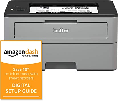 Amazon Com Brother Compact Monochrome Laser Printer Hl L2350dw Wireless Printing Duplex Two Sided Printing And Amazon Dash Replenishment Digital Setup Guide Office Products