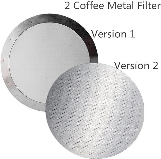 Aeropress Cafetera de acero inoxidable juego de filtros por fansir ...