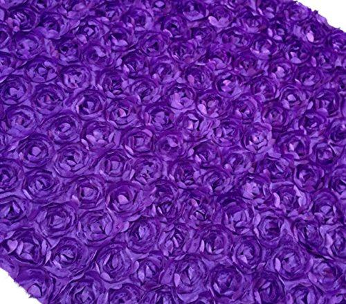 Aimeart Wedding Accessories 3D Rose Aisle Carpet Runner Tablecloth 51
