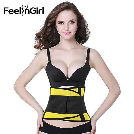 b5df19535b0 Buy FeelinGirl Waist Trainer Body Shaper Women Corsets with Zipper ...