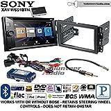 Sony XAV-W651BTN Double Din Radio Stereo Install Kit with Bluetooth, Pandora, iPhone Control, USB, AUX, Navigation Fits 2007-2013 Silverado, Avalanche (Retains steering wheel controls)