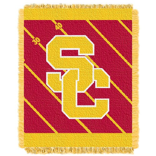 The Northwest Company Officially Licensed NCAA USC Trojans Fullback Woven Jacquard Baby Throw Blanket, 36