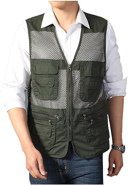 Details about  /Men/'s Vest Multi-Pocket Fishing Photography Vests Outdoor Waistcoat Jackets