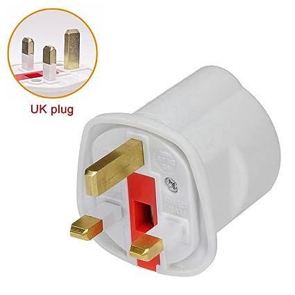 European 2 Pin to UK 3 Pin Plug Adaptor Euro EU Schuko Travel Mains Adapter